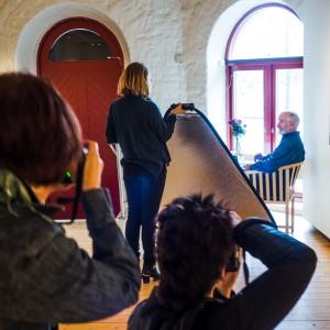Workshop. Här med oraklet Lennart Westerlund framför kamerorna för en gångs skull.  Foto: Per-Erik Lindbäck